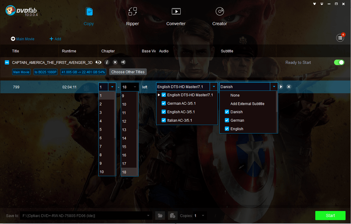 DVDFab All-In-One Screen shot