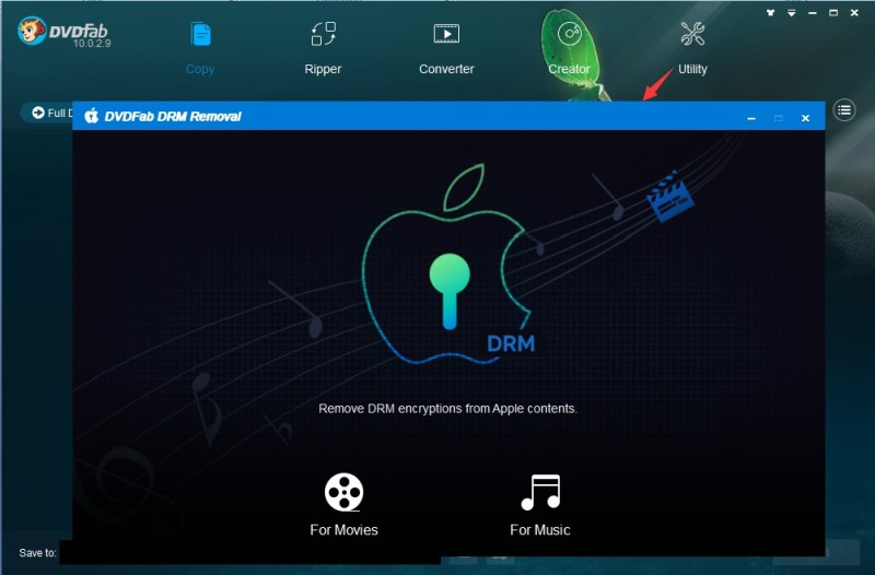 DVDFab apple DRM Removal guide 1