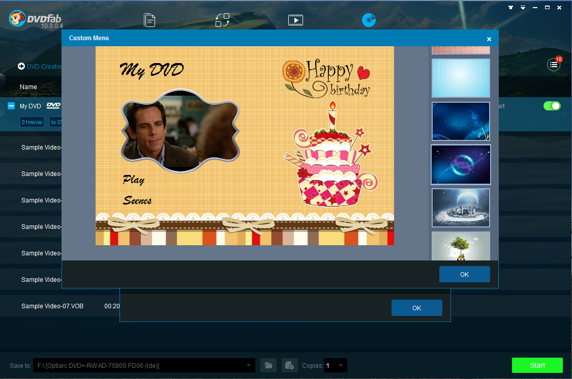 DVDFab DVD Creator Screen shot