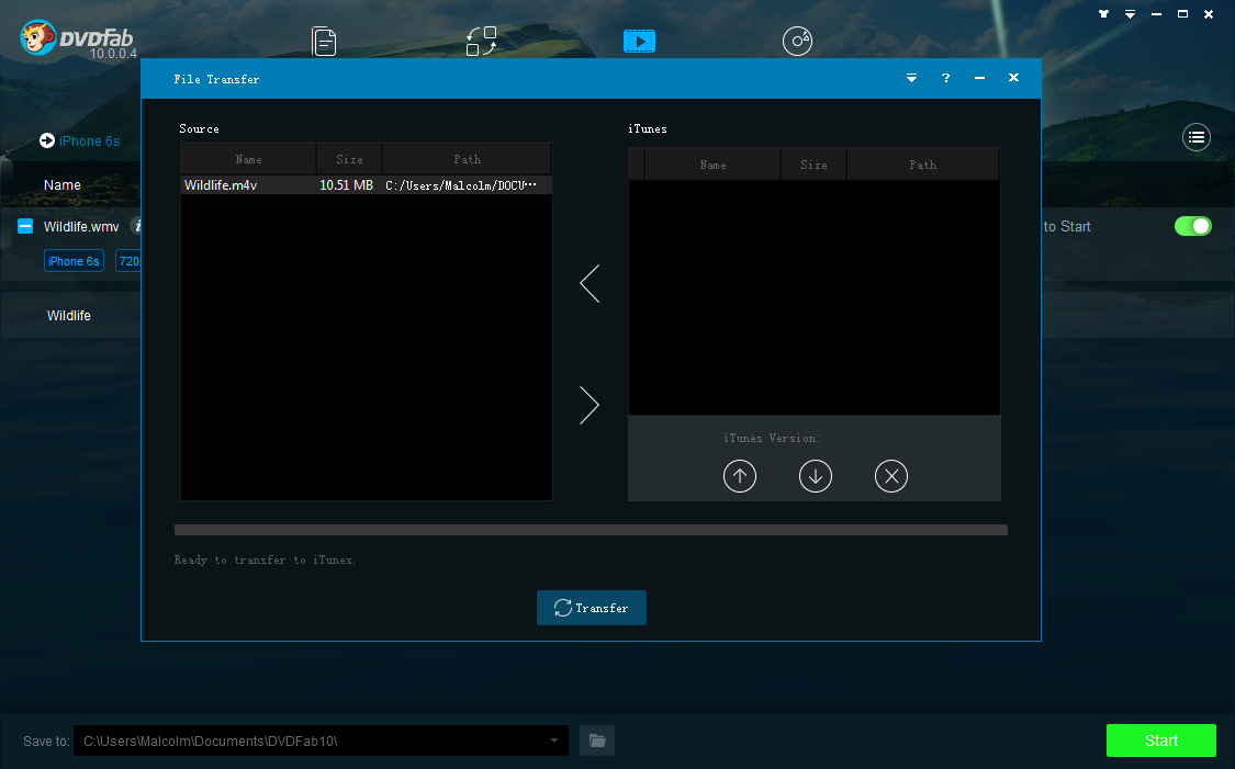 dvdfab file transfer screenshot 2
