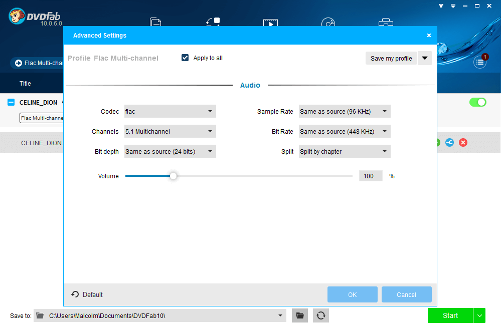 DVDFab Hi-Fi Audio Converter Screenshot 2