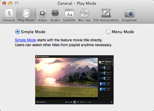 dvdfab media player for Mac screenshot 1