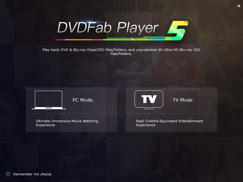DVDFab Player 5 full screenshot