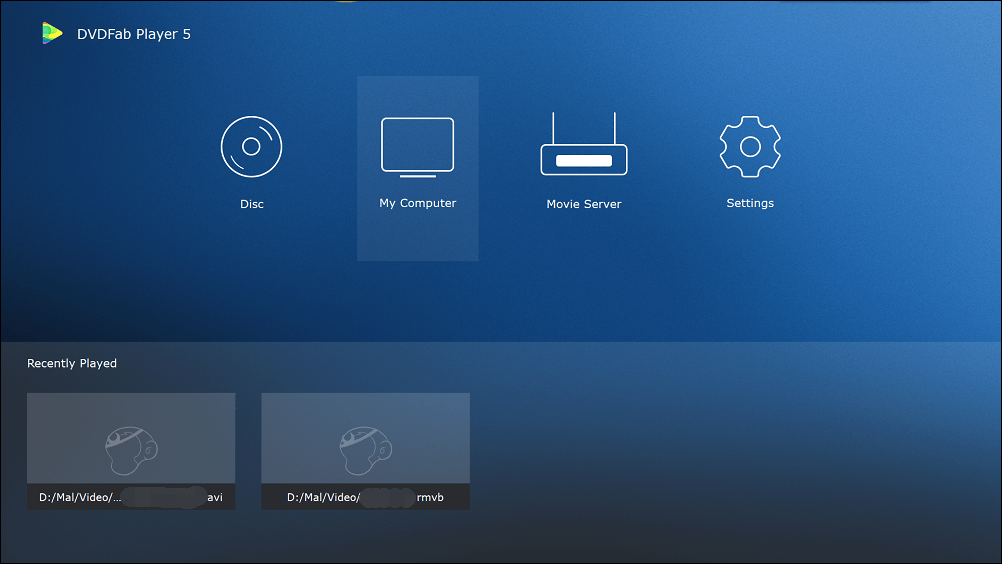 dvdfab media player screenshot 2