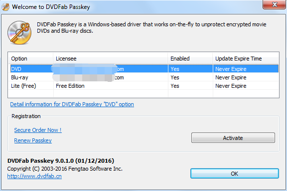 dvdfab passkey for dvd screenshot 1