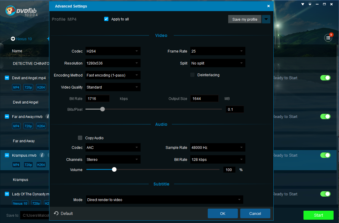 Dvdfab video converter the versatile video converter software dvdfab video converter screenshot 3 stopboris Images