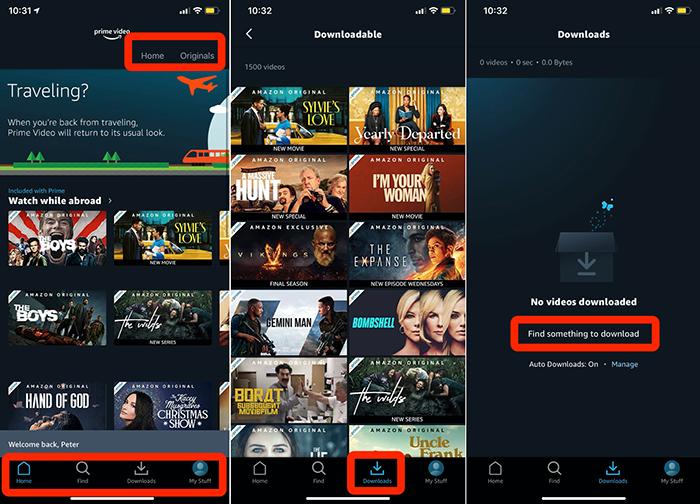 Download Amazon Prime movie to iPad