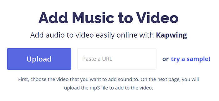 Add Music to Video Free Online with Effects