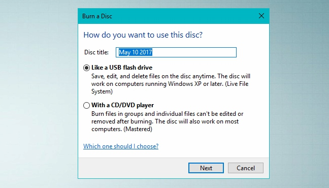 burn data to blu-ray discs