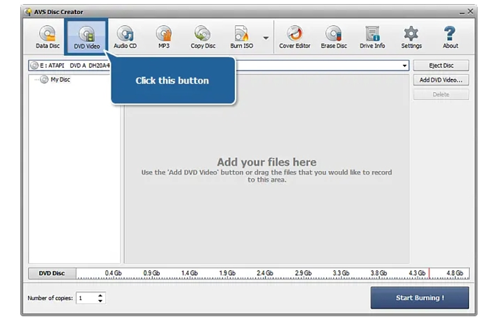 Create DVD from video_ts files