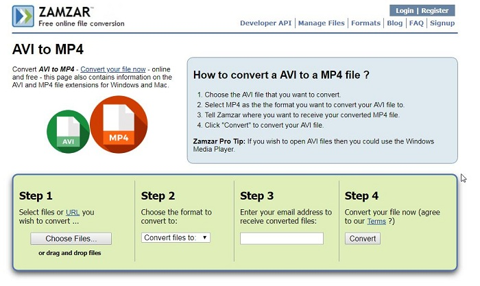 How to Convert AVI to MP4 Online with Free Tools