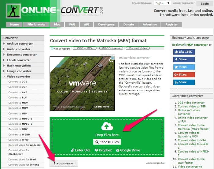convert mp4 to mkv
