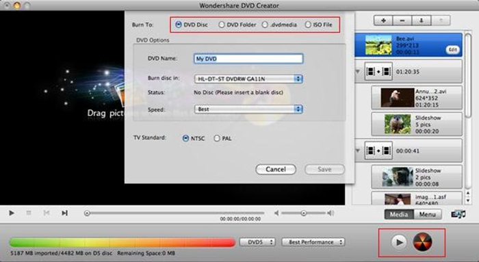 how to burn mts files to dvd