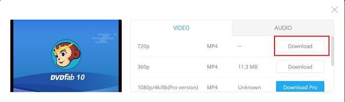 download facebook video 720p