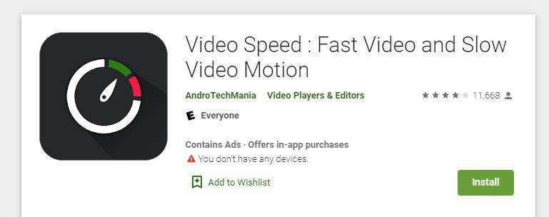 Fast Video and Slow Video Motion for android users