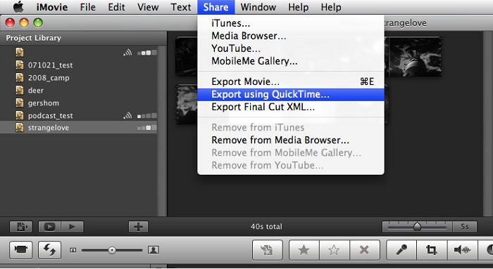 how to save imovie on mac