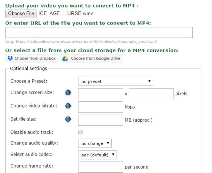 WMV MP4 形式 変換