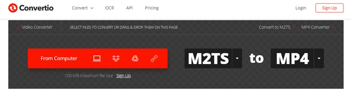 a nice site to convert m2ts to mp4 easily