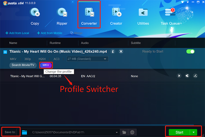 convert mkv to avi online free unlimited