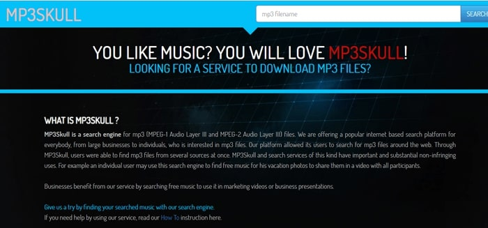 mp3skulls music download for android