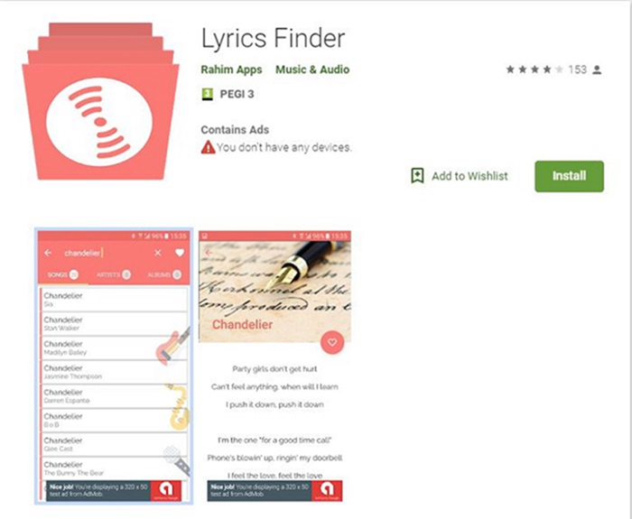 lyrics music player for android