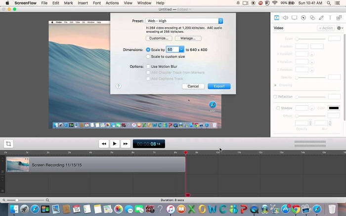 Using the Screen Recorder in Mac OS X