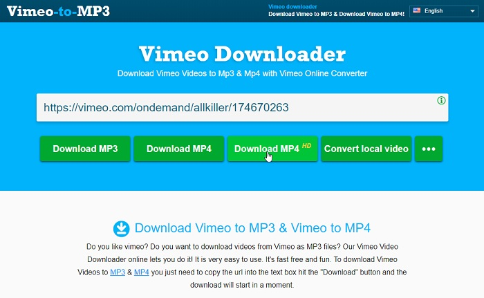 Best Solutions to Convert/Download Vimeo to MP4