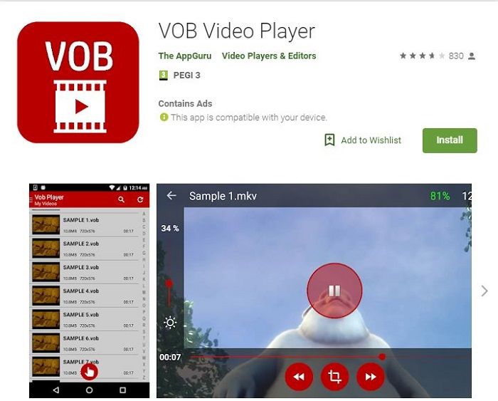 vob player for android
