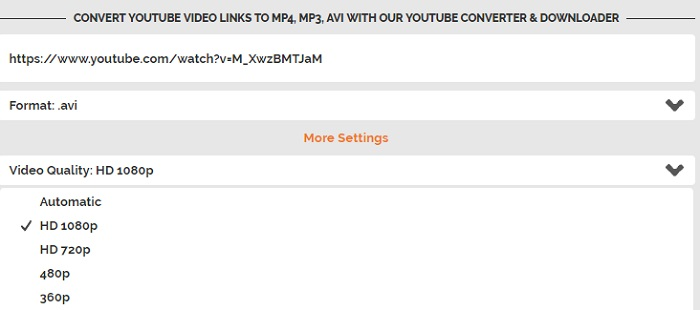 convert youtube to avi