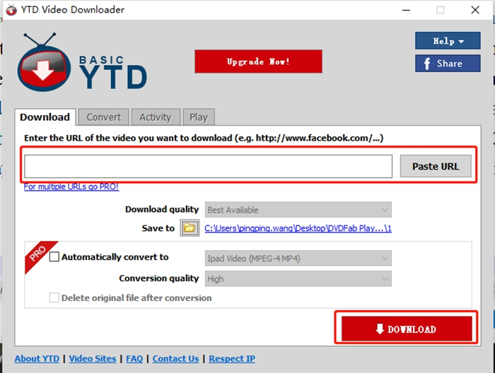 Music Download with  YouTube downloader software YTD
