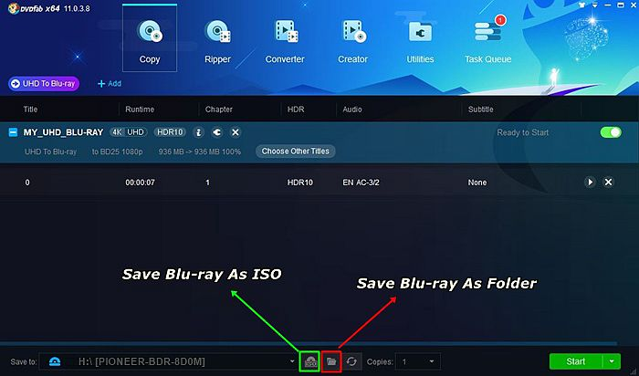 Decide ISO or Folder Format When You Convert 4K UHD Blu-ray to Blu-ray