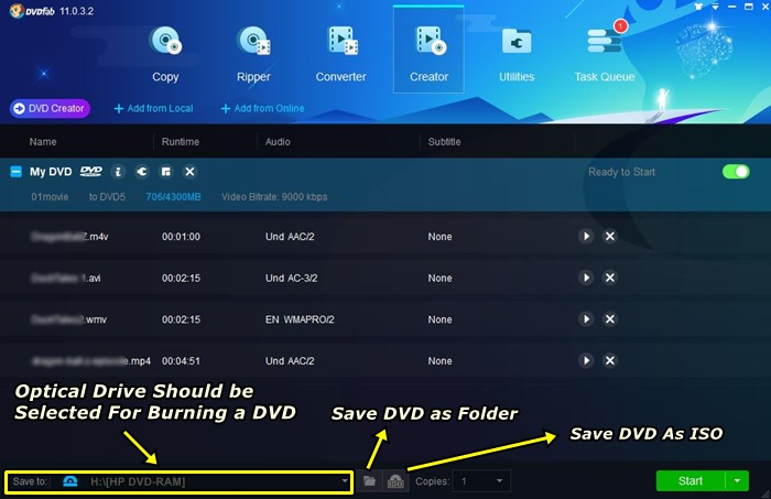 burn mkv,mp4,avi to dvds or save as dvd iso or save as dvd folder