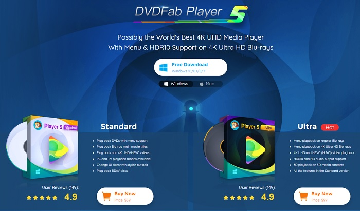 How to Play DVD Discs/Folders/ISO Files with DVDFab Player 5