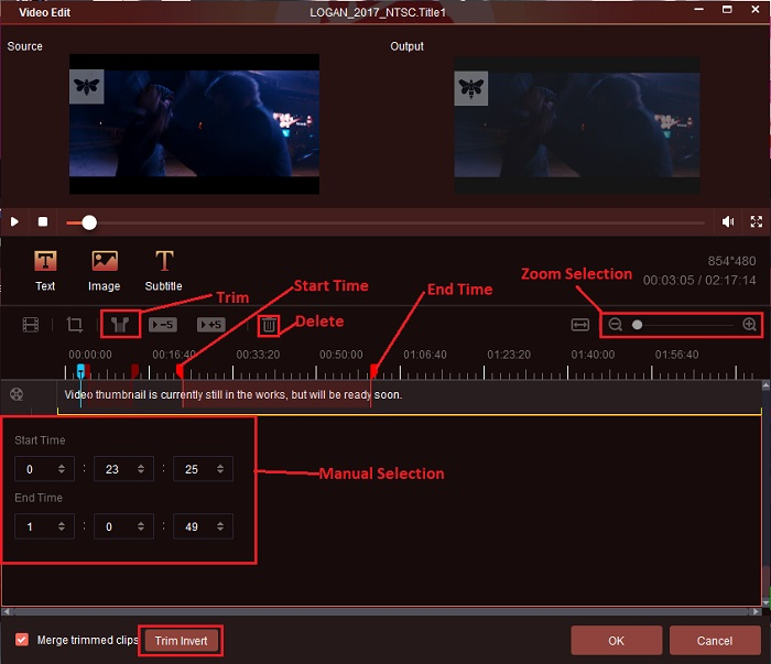 how to trim the video on the powerful ripper software