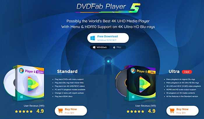 DVDFab Player 5 – The Best Free Video Player to Enhance Your