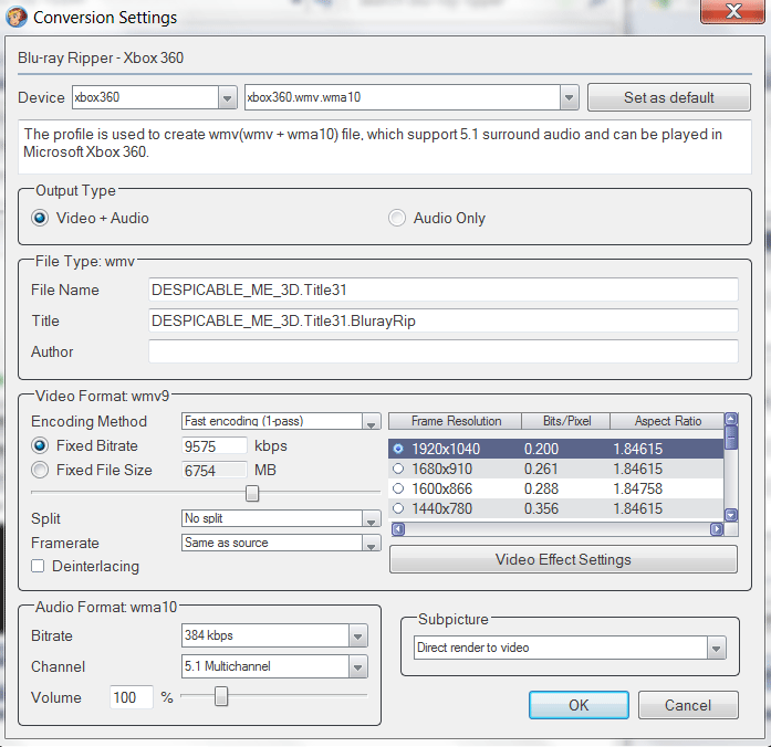 Как сделать формат mp4 на файле