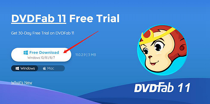where to download the install file of dvdfab 11 for win