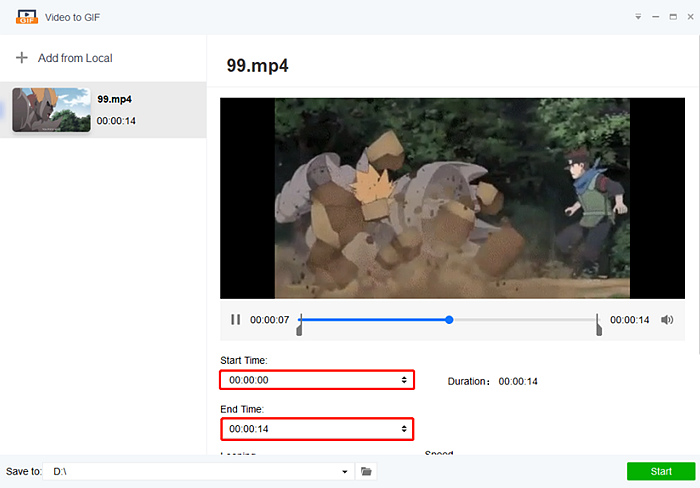 Learn how to make a GIF from a video