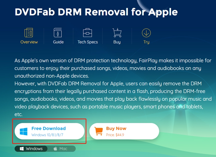 DRM Removal tool - installer