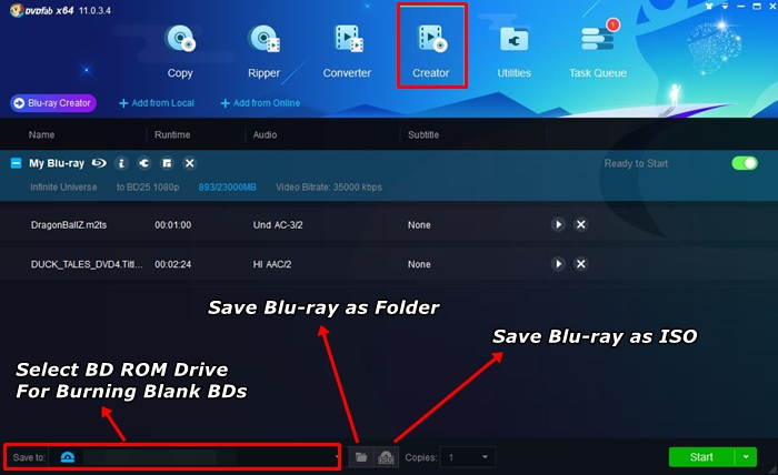 Convert flv to blu-ray