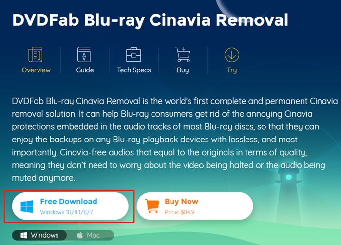blu ray protection cinavia removal