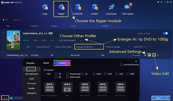 DVD ripper free Windows/Mac - DVDFab DVD Ripper